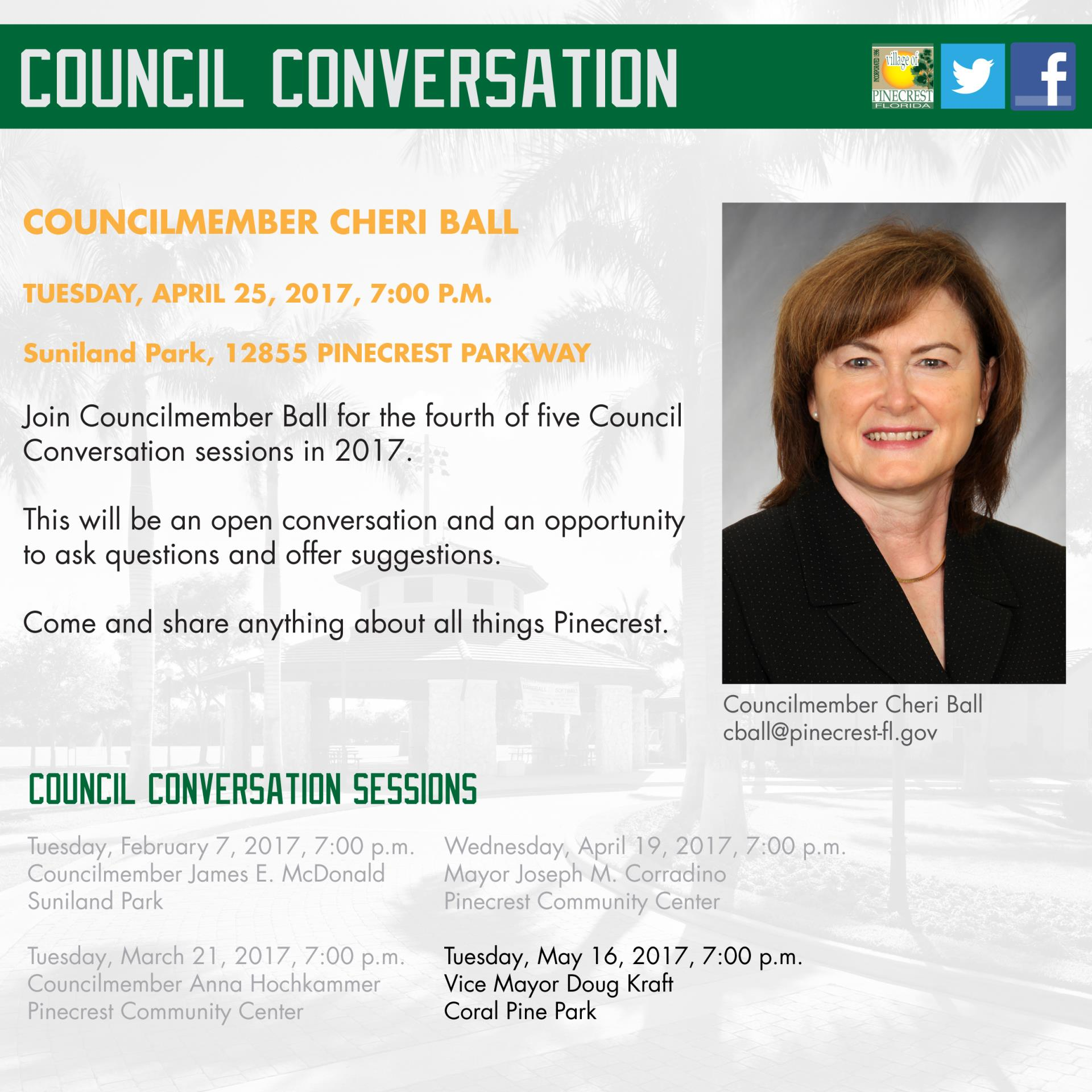 Council Conversation with Councilmember Ball