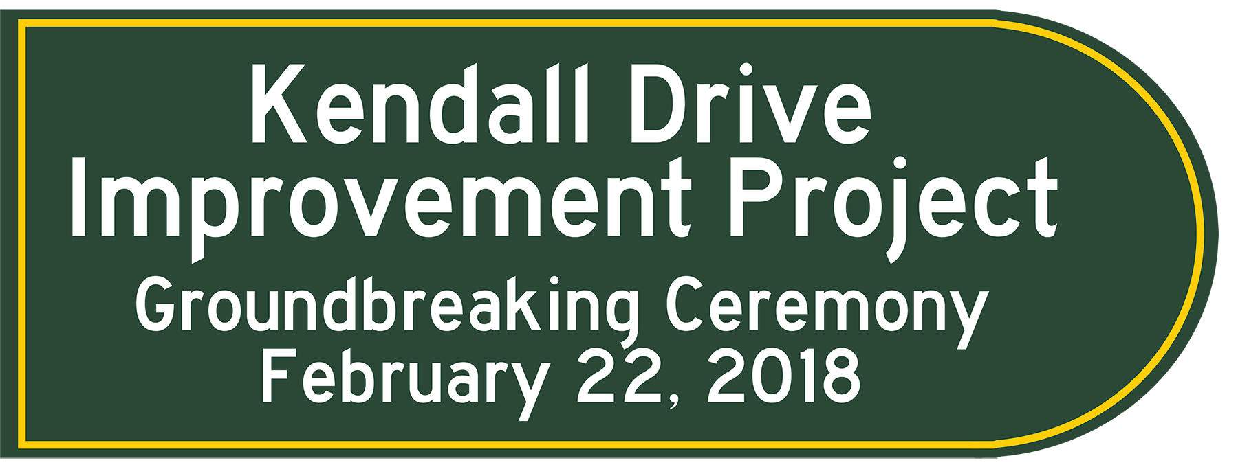 Kendall Drive Groundbreaking Ceremony