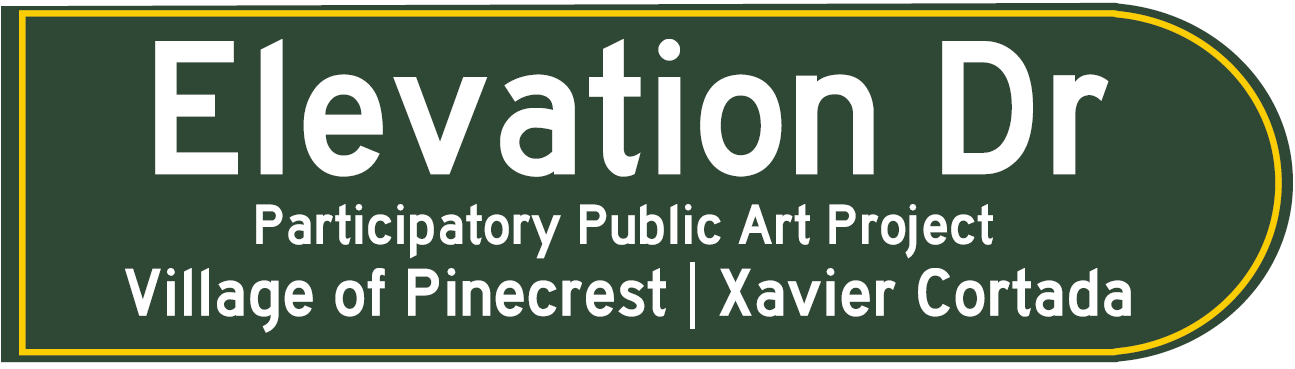 Elevation Drive Street Sign